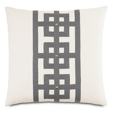 Modern Asian Tranquil Row Down Throw Pillow