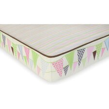 Pretty Pennant Complete Flat Crib Sheet