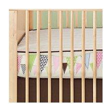 Pretty Pennant Complete Flat Crib Sheet