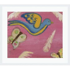 'Flying Pink I' by Diane Lamonica Framed Painting Print