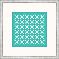 Aqua Geometrics I Framed Graphic Art