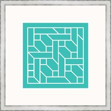 Aqua Geometrics ll Framed Graphic Art