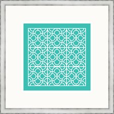 Aqua Geometrics lll Framed Graphic Art