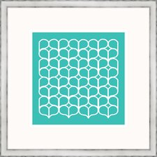 Aqua Geometrics lV Framed Graphic Art