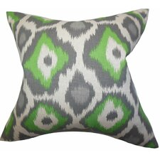Becan Ikat Cotton Throw Pillow