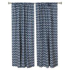 Circles and Squares Rod Pocket Curtain Panel (Set of 2)
