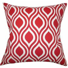 Poplar Geometric Cotton Throw Pillow