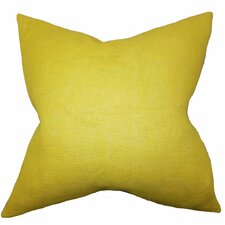 Ellery Solid Burlap Throw Pillow
