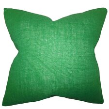 Ellery Solid Burlap Throw Pillow