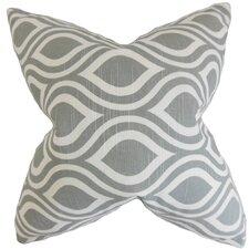 Poplar Geometric Cotton Throw Pillow