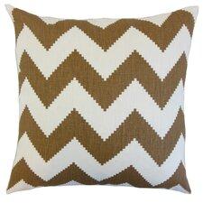 Maillol Zigzag Linen Throw Pillow