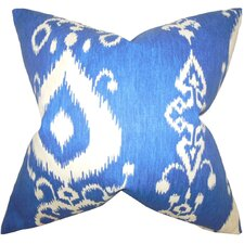 Katti Ikat Cotton Throw Pillow