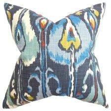 Gudrun Ikat Cotton Throw Pillow