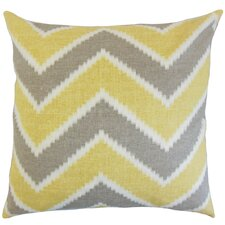 Hoku Zigzag Linen Throw Pillow