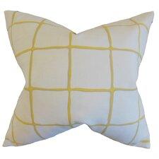 Owen Checked Cotton Throw Pillow