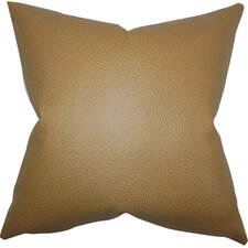 Quintas Solid Faux Leather Throw Pillow