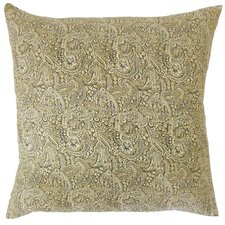 Eara Paisley Cotton Throw Pillow