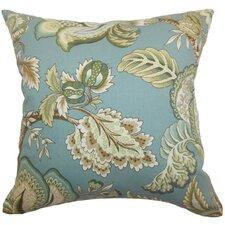 Bryda Floral Cotton Throw Pillow Cover