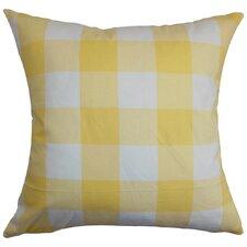 Vedette Plaid Cotton Throw Pillow