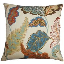Delia Floral Cotton Throw Pillow Cover
