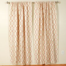 Linking Lines Rod Pocket Curtain Panel (Set of 2)