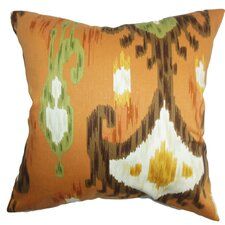 Talisha Ikat Cotton Throw Pillow