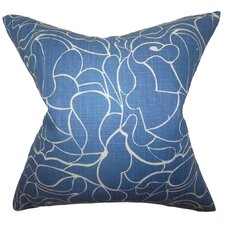 Floral Cotton Throw Pillow
