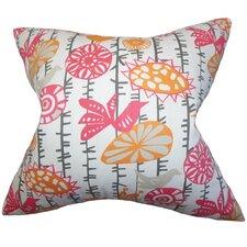 Nettle Floral Cotton Throw Pillow