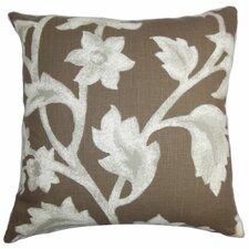 Taina Floral Cotton Throw Pillow