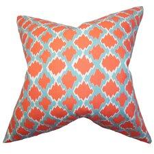 Welcome Geometric Cotton Throw Pillow
