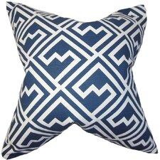 Ragnhild Geometric Cotton Throw Pillow