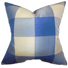 Keats Plaid Silk Throw Pillow