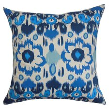 Querida Ikat Cotton Throw Pillow