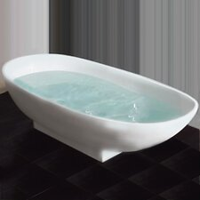 "65"" L x 34"" W Pedestal Soaking Bathtub"