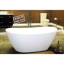 """65"""" L x 34"""" W Pedestal  Bathtub"""