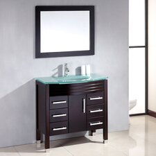 "Sapphire 36"" Single Bathroom Vanity Set with Mirror"
