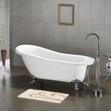 "61.75"" x 31"" Claw Foot Slipper Soaking Bathtub"
