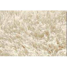 Handgetufteter Teppich Shaggy Sense in Wollweiß