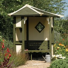 Haven 3 Seater Timber Corner Arbour