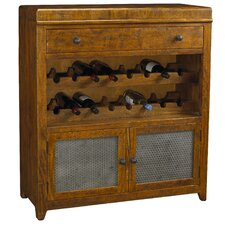 French Accents 16 Bottle Floor Wine Cabinet