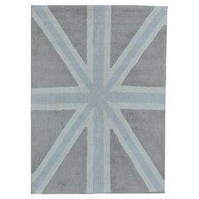 Handgetufteter Teppich in Grau