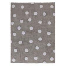 Handgetufteter Teppich Dots in Grau