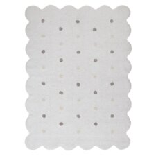 Handgetufteter Teppich in Weiß
