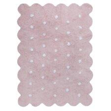 Handgetufteter Teppich in Rosa