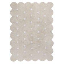 Handgetufteter Teppich in Beige