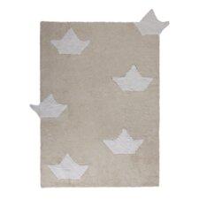 Handgetufteter Teppich Barquitos in Beige