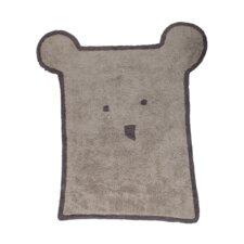 Handgetufteter Außenteppich in Grau