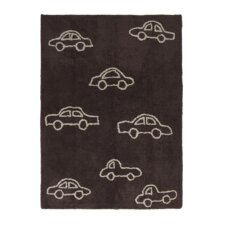 Handgetufteter Teppich Coches in Braun