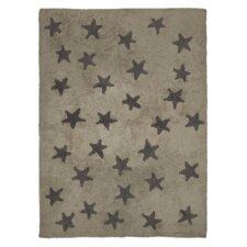 Handgetufteter Teppich Star in Grau
