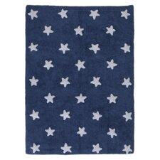 Handgetufteter Teppich Star in Blau